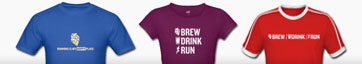 Brew / Drink / Run T Shirts and SWAG