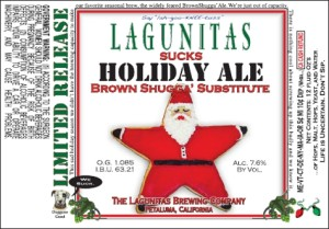 Original 2011 Lagunitas Suck holiday Ale label.
