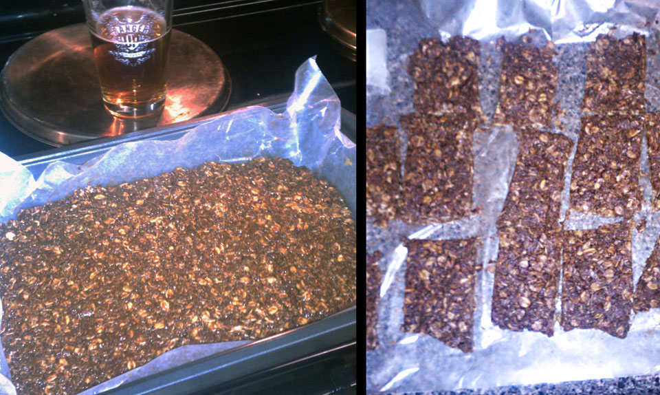 home brew beer energy granola bar