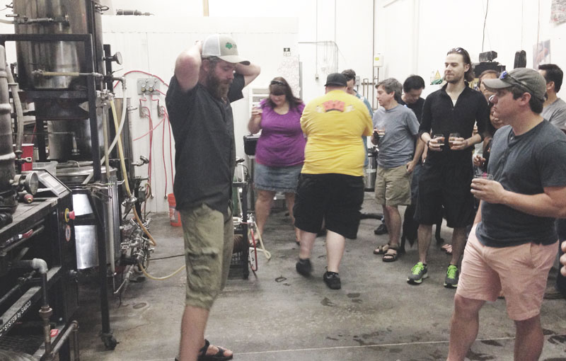 Brewer Will Avery gives a tour at Burnt Hickory Brewery in Kennesaw, GA