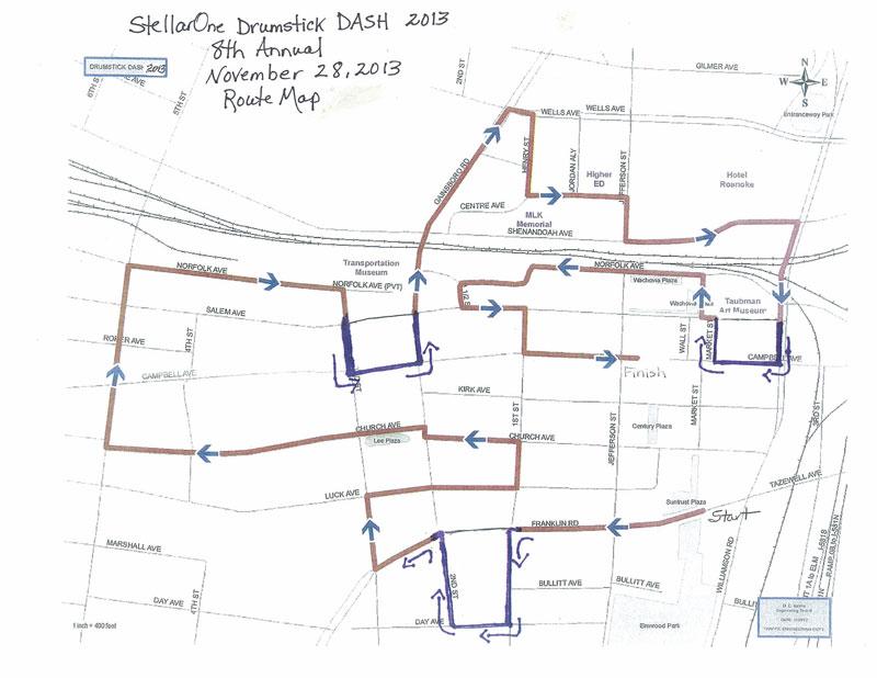 Drumstick Dash Roanoke Virginia Race Review Turkey Trot 5k