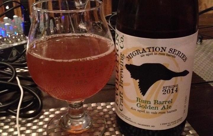Evolution Rum Barrel Golden Ale | Brew / Drink / Run Craft ...