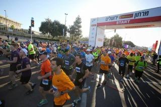 jerusalem marathon start
