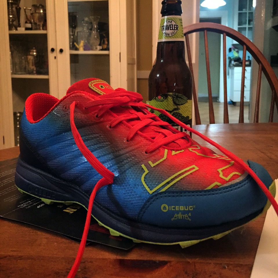icebug trail shoe with traveler ipa shandy