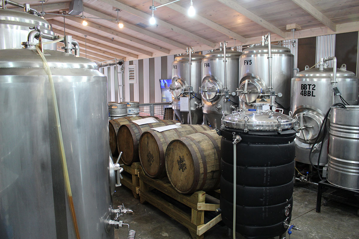 tanks at salt marsh brewing