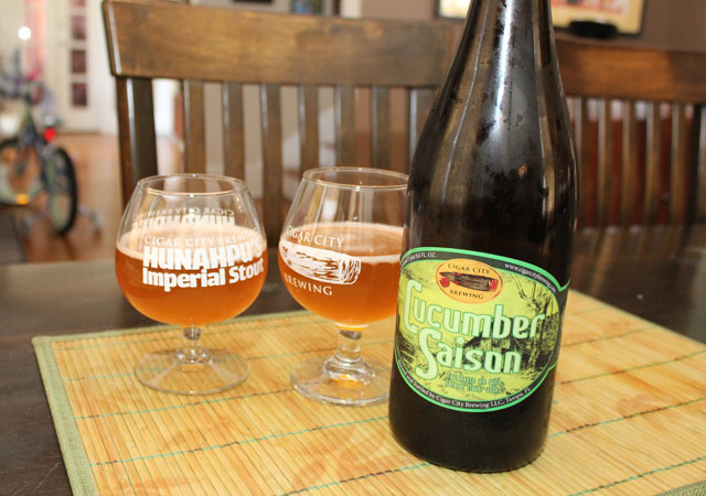 cucumber saison cigar city bruery