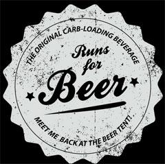 Runs for Beer T Shirt