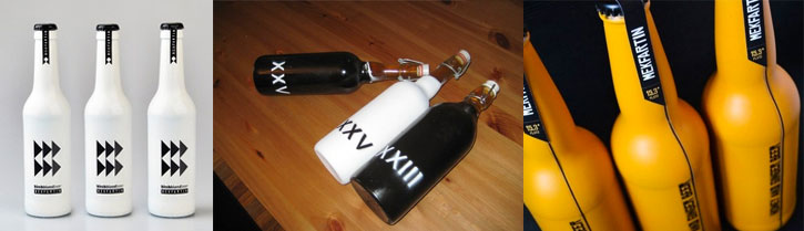 Painted Beer Bottles