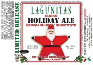 Original 2011 Lagunitas Suck holiday Ale label.