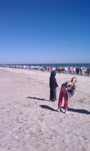 String Of Beach Runners