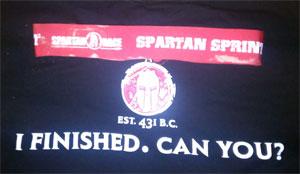 spartan sprint shirt and medal