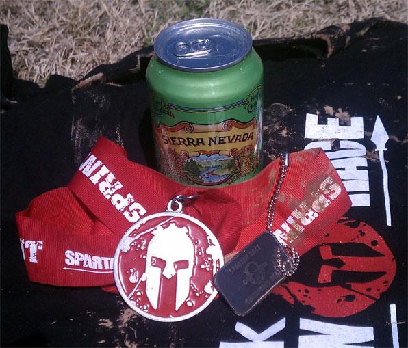 spartan race swag beer