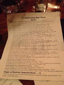 wrecking bar anniversary menu