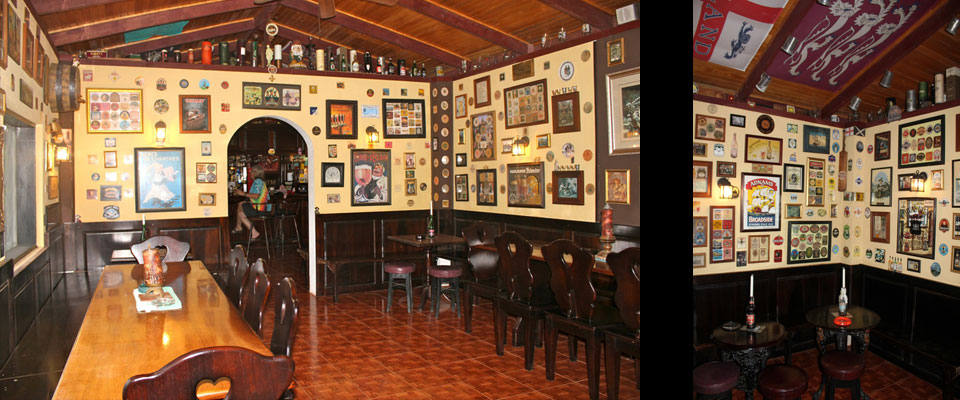 A German (left) and English (right) pub in Guanacaste?