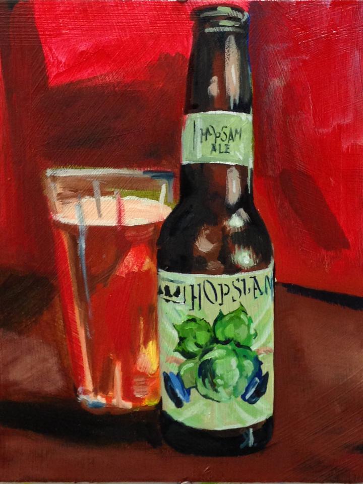 Bells Hopslam Painting by Raymond Gaddy