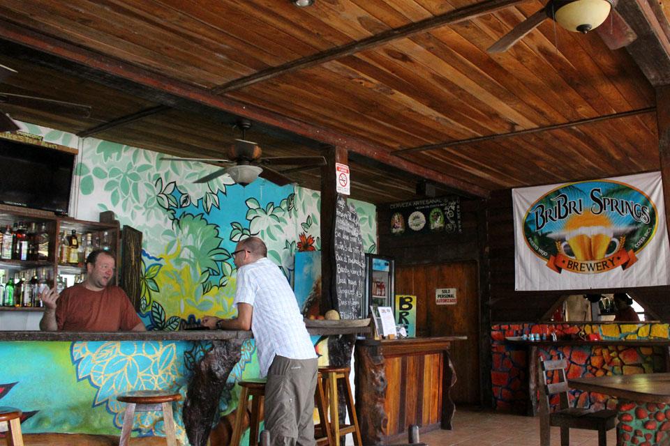 The bar at Kaya's Place, home to Bribri Springs